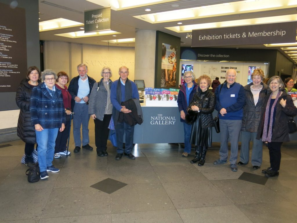 Members of HGS U3A at the National Gallery with Professor Baum