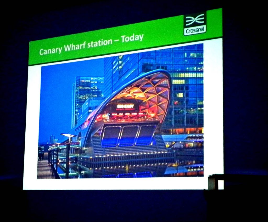 Development above Crossrail station at Canary Wharf