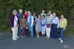Members of the wine appreciation group at Denbies vineyard