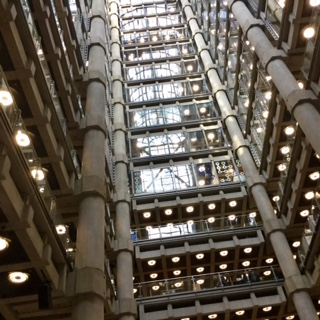 Exterior of Lloyd's building showing pipes