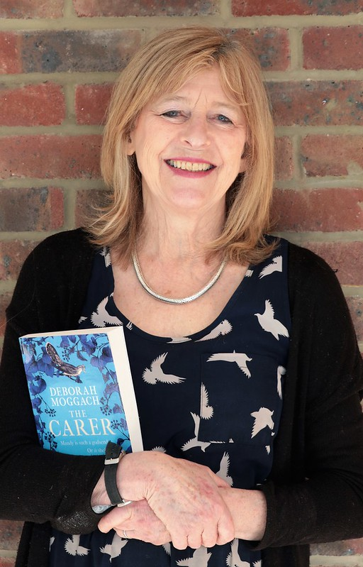 Deborah Moggach with a copy of her novel
